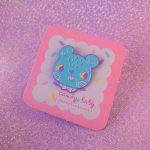 candy pastel bear soft enamel pin