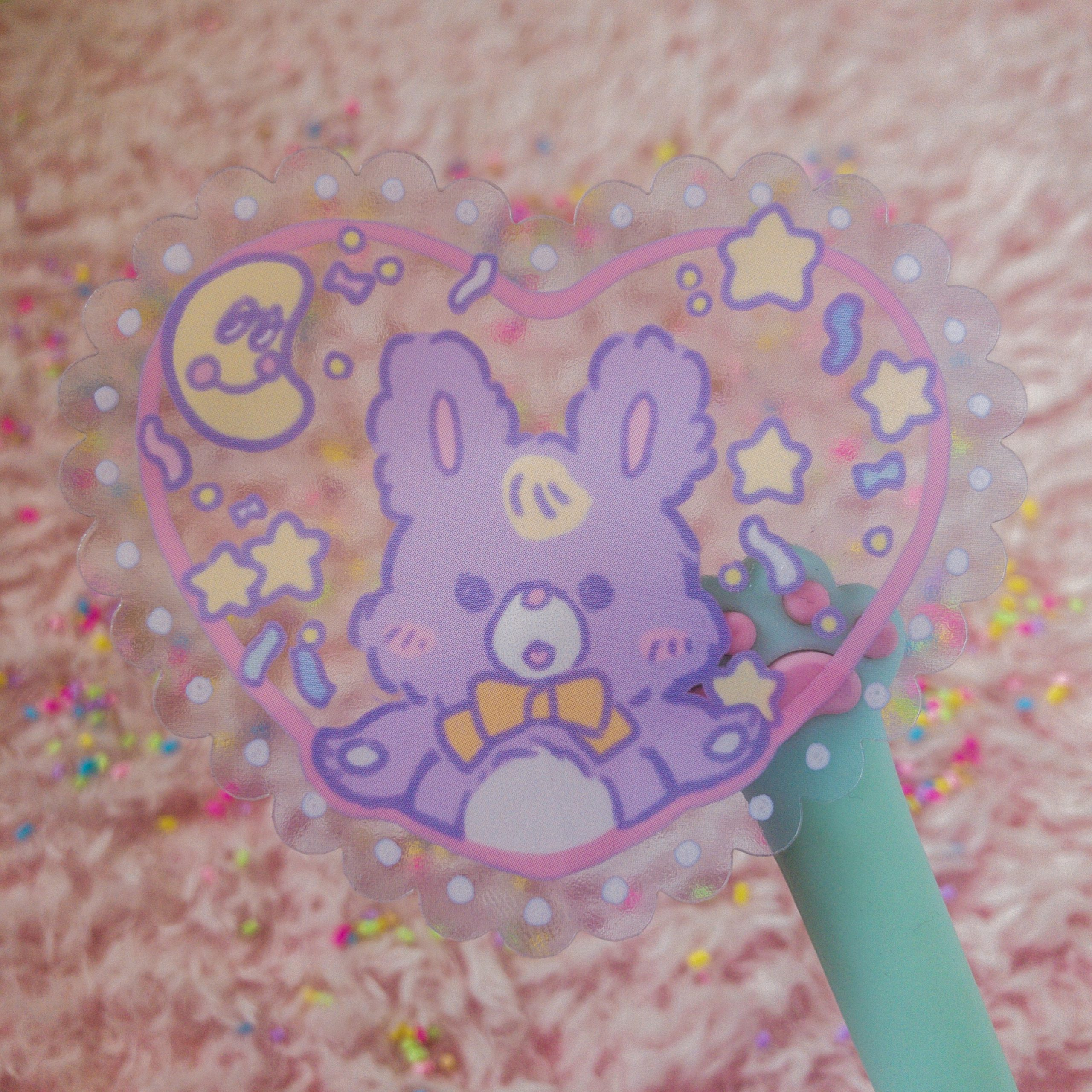 bunny love transparent sticker