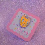 candy pastel dog soft enamel pin