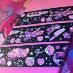 washi tape with adult theme toys with holographic detail