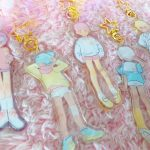 keychains of pastel school boys wearing different kinds of uniforms