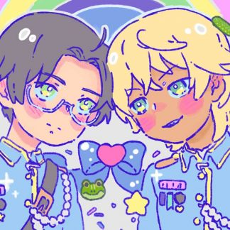 sarazanmai reo and mabu postcard